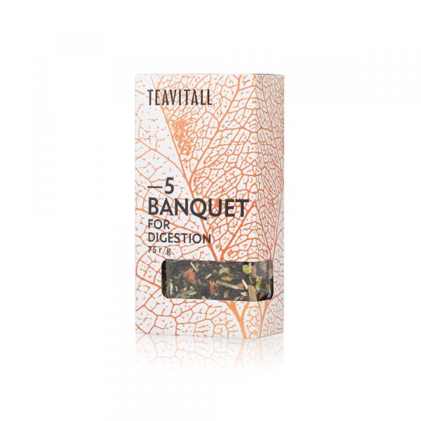 Чайный напиток для пищеварения TeaVitall Express Banquet 5 (75 г)