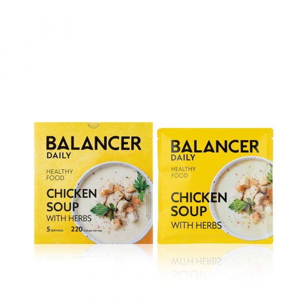 Коктейль BALANCER со вкусом «Куриный суп с зеленью»