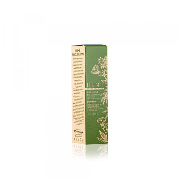 Крем-гель освежающий для век с экстрактами конопли и водорослей