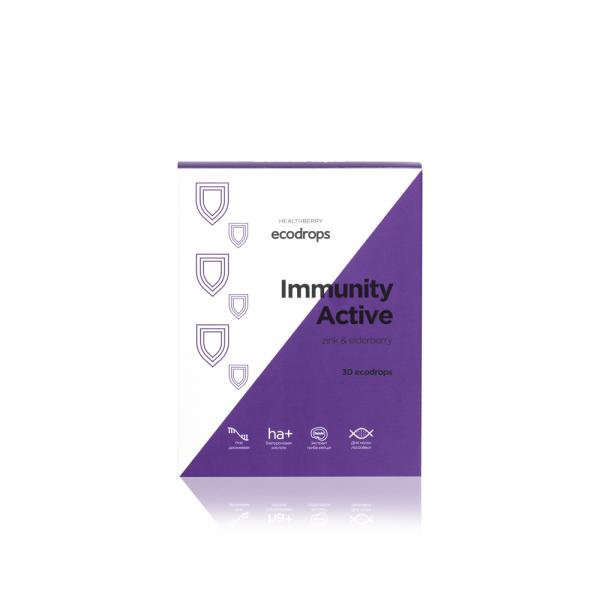 Леденцы для поддержания иммунитета Healthberry Immunity Active (30 шт)
