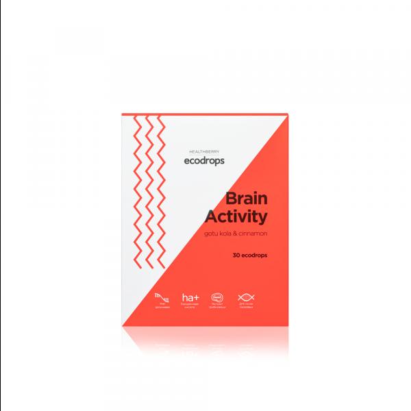 Леденцы для улучшения мозговой деятельности Healthberry Ecodrops Brain Activity (30 шт)