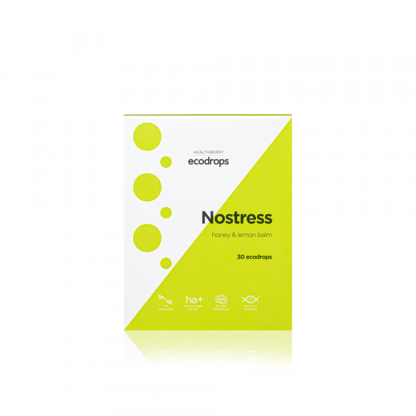 Леденцы с успокаивающим действием Карамель леденцовая Healthberry Ecodrops Nostress