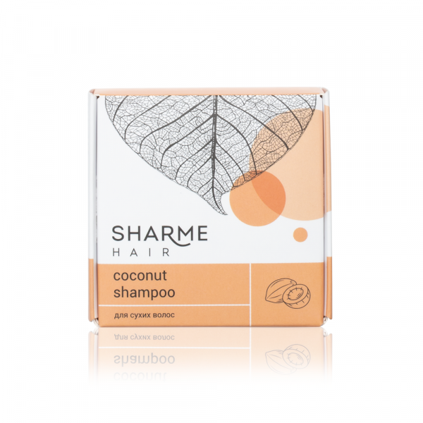 Натуральный твердый шампунь Sharme Hair Coconut (кокос)