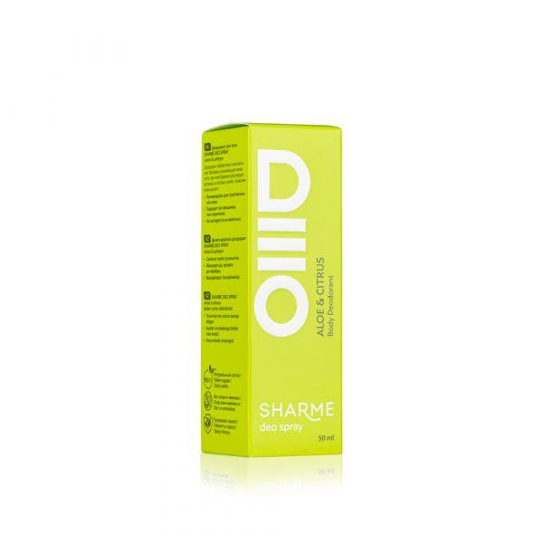SHARME DEO SPRAY Body Deodorant Aloe & Citrus/ Дезодорант «Алое & цитрус»
