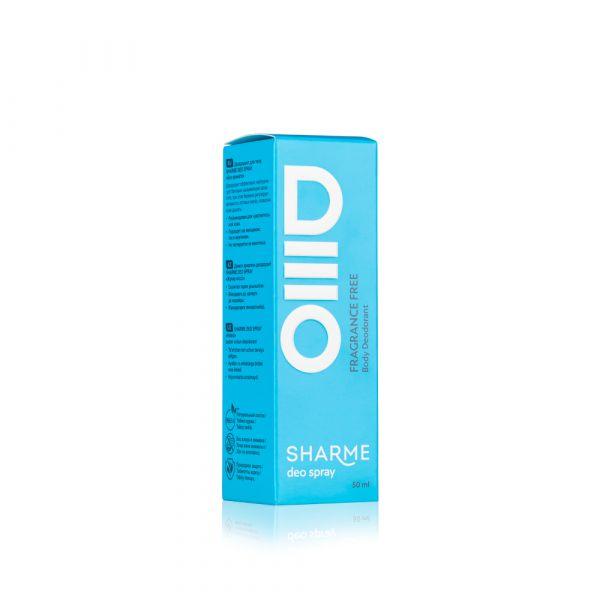 SHARME DEO SPRAY Body Deodorant Fragrance Free/ Дезодорант «Без аромата»