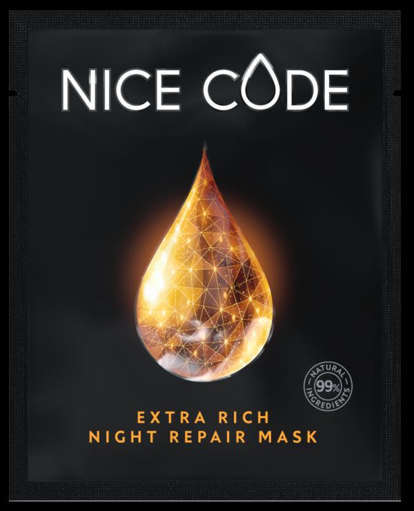 Маска ночного ухода для обновления кожи Тканевая маска Extra Rich Night repair