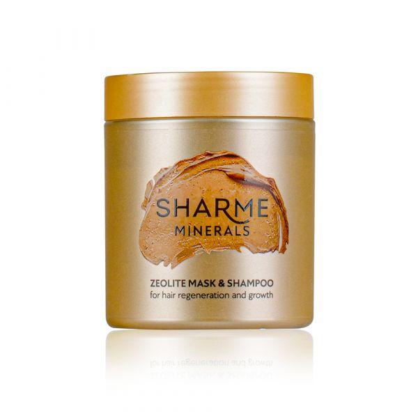 Цеолитовая маска-шампунь для восстановления и роста волос Sharme Minerals